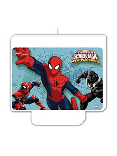 COOLMP - Velas de cumpleaños de Spiderman, tamaño único, decoración para Fiestas, animación, cumpleaños, Bodas, Eventos, Juguetes, Globos