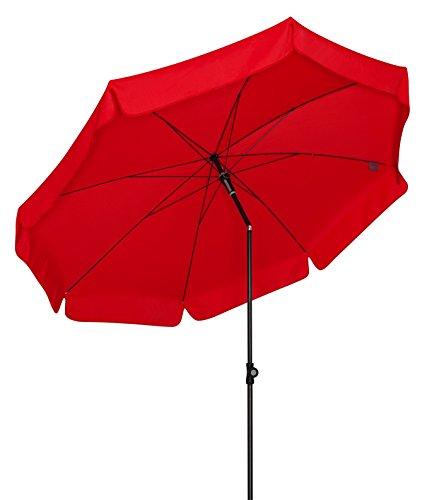Doppler Absolut wetterfester Gartenschirm Sunline 150 rot, UV-Schutz 50 Plus und Knicker,