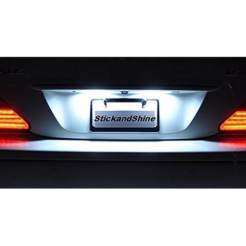 Luci targa a LED SMD adatto per Mercedes Classe S W221 CL C216 Bianco Can-Bus Benz