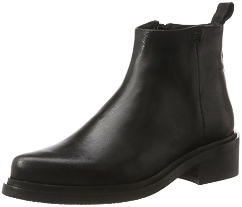 Shoe Biz Damen Chelsea Boot, Schwarz (Velvet Black), 39 EU (Boot Pointy Toe)