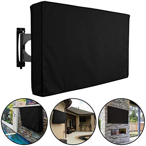 """F-cover Outdoor-TV-Staubschutz, 38-55 Zoll-Flachbildschirm-TV Universal Heavy Duty Oxford Cloth Dicken Wasserdicht (Color : Schwarz, Size : 48\""""-50\"""")"""