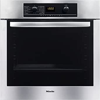 miele h 5147 b einbau elektro backofen a edelstahl clst perfectclean klimagaren amazon. Black Bedroom Furniture Sets. Home Design Ideas