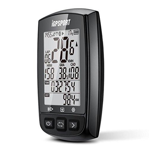 iGPSPORT GPS Drahtloser Tacho Computer Kilometerzähler IPX7 Wasserdicht Mit ANT+ Function mit Halterung Englisch Version(Schwarz) … - 2