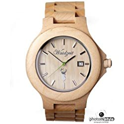 The Time Men's Watch Wooden Capricorn Premium ST01