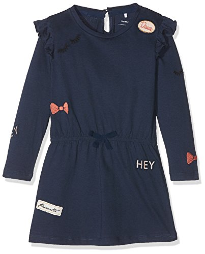 NAME IT Baby-Mädchen Kleid Nitetbissa LS Dress Box F Mini, Blau (Dress Blues), 92 Preisvergleich