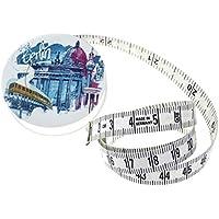 hoechstmass Balzer 80244D-BERB Rollmaßband rollfix Dekor Berlin, 150 cm / 60 Zoll Maßband, ABS, Polyfibre, Mehrfarbig, 5 x 5 x 1.4 cm, 12-Einheiten
