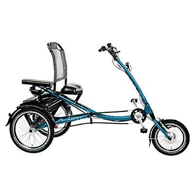 """PFAU-TEC ELO-Scooter Trike Elektrorad 16/20"""" 7G. SRAM """"S7"""" RFN stahlblau Fahrrad"""