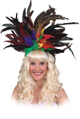 Samba Kostüm Tänzerin - Fasching Samba-Federschmuck (bunt)