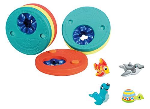 Delphin Schwimmscheiben Original 6 Stück + Schwimmtier gratis