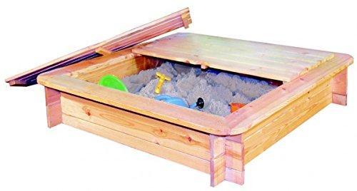Preisvergleich Produktbild Sandkasten Harry 120 x 120 cm mit Deckel kesseldruckimprägniert -