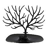 kentop Organizador de joyas Joyero en forma de árbol para joyas pendientes collares soporte soporte 25×23CM Negro