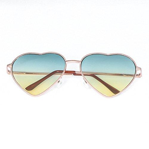 Pfirsich-Herz-Sonnenbrille-Metall-Liebe-geformte Sonnenbrille-reflektierende Sonnenbrille,A3