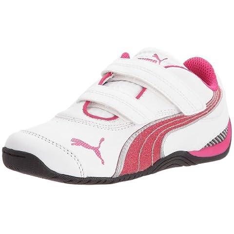 Puma Drift Cat III L Glitter V Kids - Chaussures de sport lifestyle Cadet - Bébé - Blanc / Rose - 34