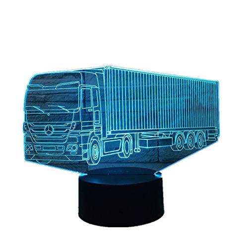 Wangzj 3d 7 Farblampe Visuelle Led Nachtlichter Für Kinder Touch Usb Tisch Lampara Lampe Container lkw -