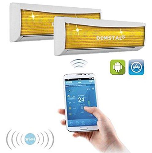 Heizung Klimaanlage (A++/A+ DuoSplit WiFi WLAN Golden-Fin 9000 + 12000 BTU MultiSplit Klimaanlage INVERTER Klimagerät und Heizung SmartHome)