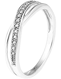 & You Damen -  9_k_(375)  Weißgold Rund   Weiß/Wesselton (H) Diamant
