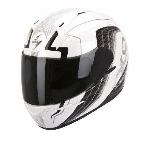 SCORPION Casque de Moto EXO-410 AIR Altus, Blanc, Taille XL