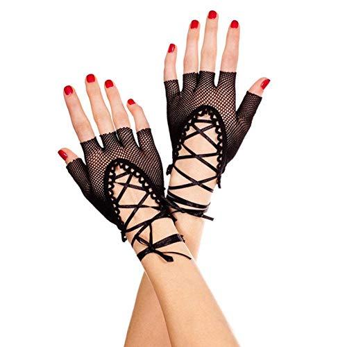 Sex Produkte Schwarzes Fischnetz Aushöhlen Sexy Handschuhe Rollenspiel Nightckub Sexy Brautkostüme Sexy Dessous Spielzeug Für Frauen -