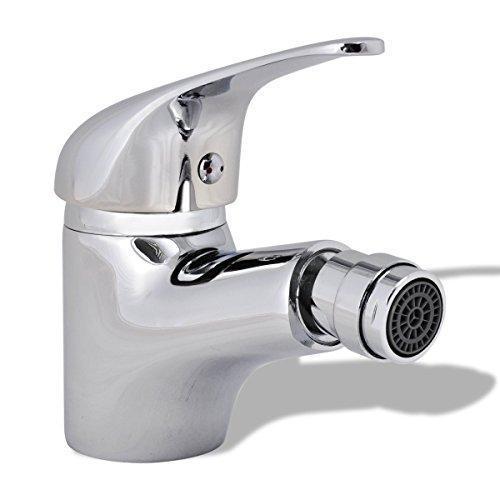 vidaXL Bidetarmatur Chrom Mischbatterie Einhebelmischer Wasserhahn Badezimmer