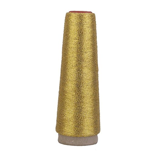 Gold-metallic-thread (Pixnor Polyester Stickerei Maschine Gewinde Schöne Farben Nähgarn (Gold))