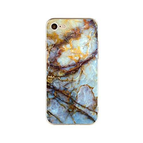 Coque iPhone 6 6s Housse étui-Case Transparent Liquid Crystal en TPU Silicone Clair,Protection Ultra Mince Premium,Coque Prime pour iPhone 6 6s-Marbre-style 21 20