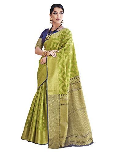 Mrinalika Fashion Women's Banarasi Silk Sare...