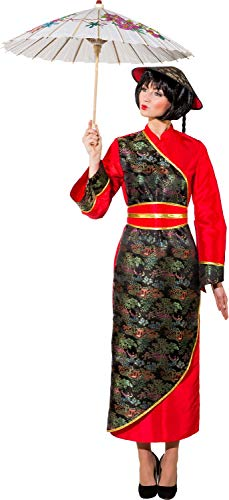 Ladies Traditional Chinese New Year International Around The World National Dress Fancy Dress Costume Outfit (UK 8 (EU (National Fancy Dress Kostüm)