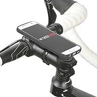 QuickMOUNT 3.0 Kit für Samsung Galaxy S7 (SM-G930F) Fahrradhalterung & Lifestyle Case mit optionaler IPx3 Schutzhülle (Wicked Chili Fahrradzubehör mit Ladekabel- und Kopfhörer Anschluss) matt schwarz