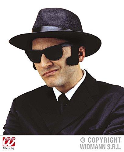 ANGEBOT-GANGSTER-Hut-Brille-Blues-Brother-Kombinationen-Kostmkombinationen-Partyverkleidungen