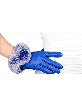 DIDIDD Señoras Guantes Moda Simple Cómoda y cálida,Azul,Un tamaño