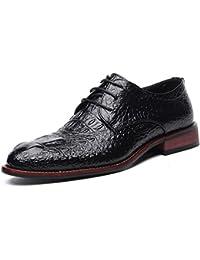 b7d4a193c97 Feidaeu Soulier Homme Derby Microfibre Faux Croco Transparent Business  Luxueux Délicat Bout Pointu Mode Commercial Chaussures