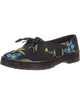 Dr. Martens - Morada Canvas Black Hawaiian, Ballerine Donna