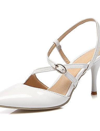 WSS 2016 Chaussures de mariage-Noir / Rouge / Blanc / Beige-Mariage / Habillé / Soirée & Evénement-Bout Pointu / Bride de Cheville-Talons-Homme 3in-3 3/4in-white
