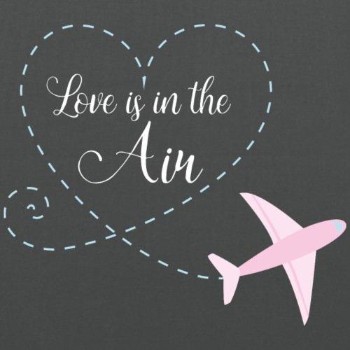Spreadshirt Flugzeug Herz Love Is In The Air Stoffbeutel Graphite