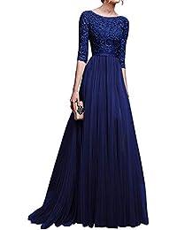 Empire Abendkleid Gr.34,36-XS,S langes Kleid Maxikleid Chiffon DRESS braun NEU