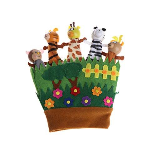 Gjyia Karikatur-Tierhandpuppen-Tierhandschuh-Puppen-Spielzeug-Baby-Schlafenszeit-Geschichten Wie Bilder Gezeigt One Size