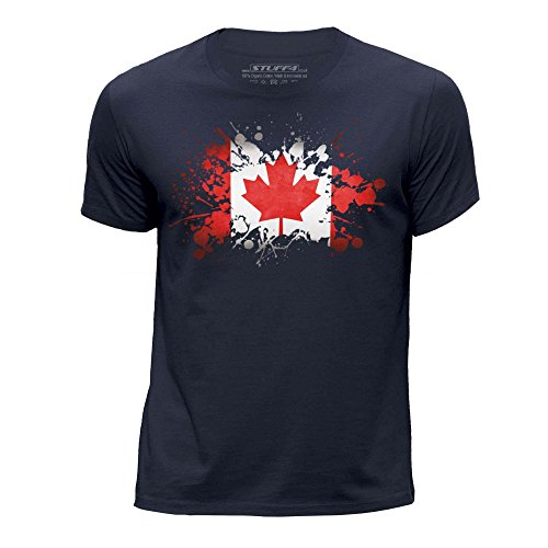 stuff4-boys-age-9-11-134-146cm-navy-blue-round-neck-t-shirt-canada-canadian-flag