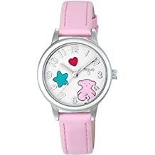 Reloj TOUS Muffin de acero con correa de piel rosa Ref:800350630, Niña