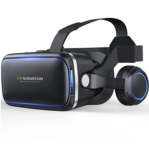HUYAN1 3D VR Virtual Reality Headset 360° Immersive große Bildschirm Erfahrung VR Brillen fit für...