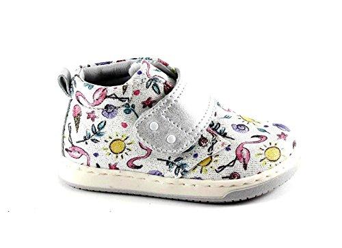 SPIELZEUG 474.261 MINI 23/24 weißes Baby Flamingo Silber Träne Schuhe Bianco