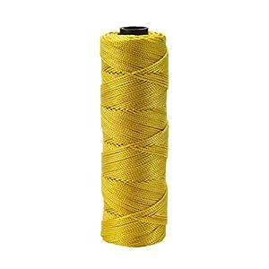 Mutuo Industries 14661–138–275nailon trenzado cordel de albañil, 1/4Lb, 18x 275«, Glo Amarillo (Pack de 6)