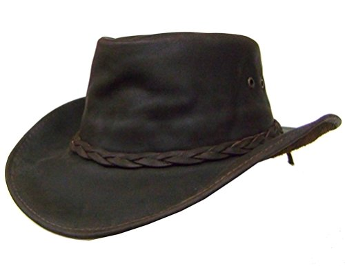 modestone-unisex-oiled-leather-casual-hat-brown