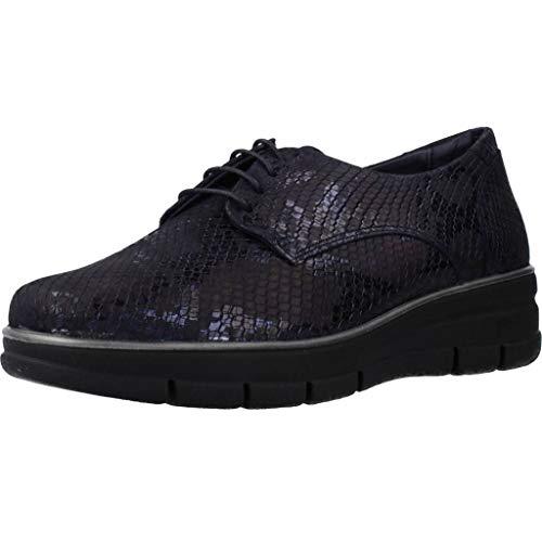 Zapatos de Cordones para Mujer, Color Azul (NIT), Marca 24 HORAS, Modelo Zapatos De Cordones para Mujer 24 HORAS 24292 Azul