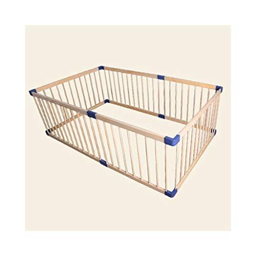 6-panel-massivholz (LQQGXL Zaun - Kisten Pet Zaun erweiterbar Kleintier Bretterzaun Käfig innen und 6 Panel im Freien)