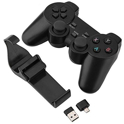 Asixx Gamepad wireless, controller di gioco wireless 2.4G Gamepad wireless intelligente per Android Smart TV, TV Box, PC e telefono cellulare, joystick a 360 °