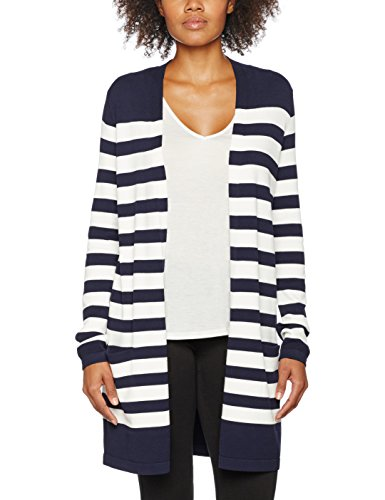 Comma, Cardigan Donna blue structured stripes 58H5