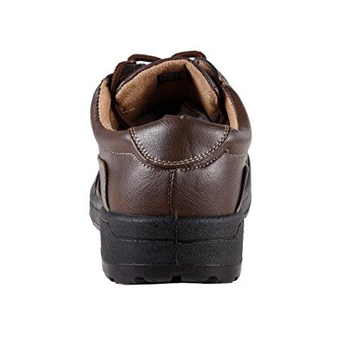 HSM , Chaussures de ville à lacets pour homme marron marron foncé marron foncé