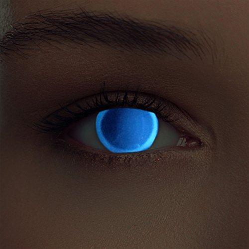 Incandescente lenti a contatto colorate blu invisibile alla luce del giorno senza diottrie + gratis caso di lenti modello