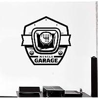 xingzhi Vinyl Car Sticker, Wall Decal Muscle Car Garage Gearbox Decoration, Car Seat Decoration, Car Repair Shop Decoration 58X57Cm