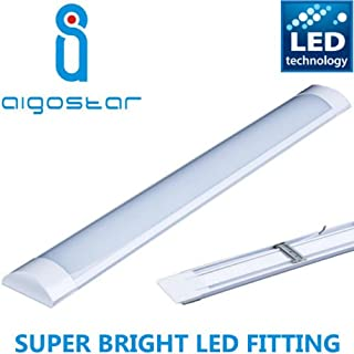 Hight Lumen 5FT 50w LED Batten Tube Linear Light Slim Ceiling Surface Mounted Daylight Wide 1500mm 150cm Low Energy Saving Bedroom Office Utility Strip Fitting 6000k